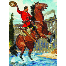 Royal Canadian Mounted Police - Train Salute - 1000 Pieces