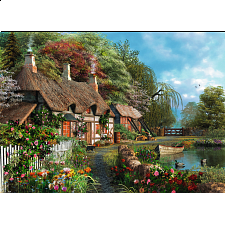 Cottage on a Lake - Large Piece Format - 101-499 Pieces