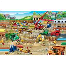 Floor Puzzle: Construction Zone - 1-100 Pieces