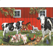 Red Barn Farm - Tray Puzzle - 1-100 Pieces