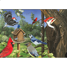 Around the Birdfeeder - Tray Puzzle - 1-100 Pieces