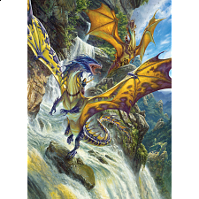Waterfall Dragons - 1000 Pieces