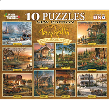 Terry Redlin - 10 in 1 Puzzle Set - Gold - 1-100 Pieces