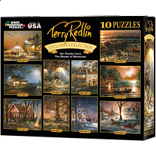 Terry Redlin - 10 in 1 Puzzle Set - Black - 1-100 Pieces