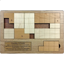 Counting 10 Puzzle - Other Wood Puzzles