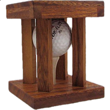 Caged Golf Ball - Other Wood Puzzles