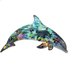 Silhouette Puzzle - Dolphin World - 500-999 Pieces