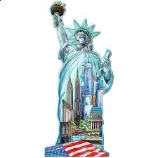 Silhouette Puzzle - Statue of Liberty, New York - 1000 Pieces