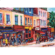 St. Laurent Street in Montreal - 1000 Pieces