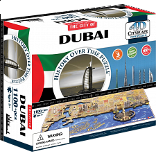 4D City Scape Time Puzzle - Dubai - 3D