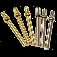 Cribbage Pegs - 6 Piece Metal (2 Colors) -