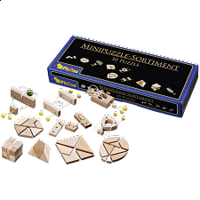 Mini-Puzzle Assortment - 10 Puzzles - European Wood Puzzles