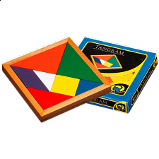 Tangram - Colored - European Wood Puzzles