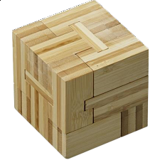 Slide Cube - European Wood Puzzles