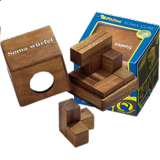 Soma Cube - Medium - European Wood Puzzles