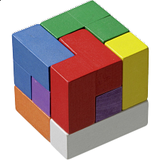 Soma Cube - Colourful - European Wood Puzzles