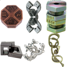 .Level 10 - a set of 6 Hanayama puzzles - Group Specials