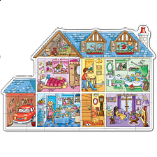 Dolls House - Shaped Floor Puzzle -