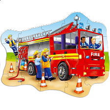 Big Fire Engine - Shaped Floor Puzzle - Shaped