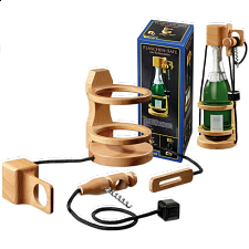 Bottle-Safe with Corkscrew - Other Wood Puzzles