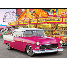 Colorluxe: Red Car at the Carnival - Jigsaws