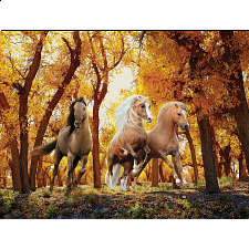 Heavenly Horses: Forest Gallop - Large Piece - 101-499 Pieces
