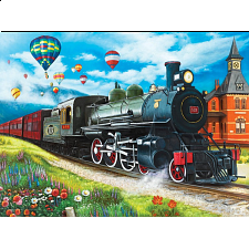 Puzzle Collector ART: Steam Train at the Station - 1000 Pieces