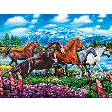 Puzzle Collector ART: Running Horses - 1000 Pieces