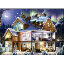 Puzzle Collector ART: Santa on the Roof - 1000 Pieces