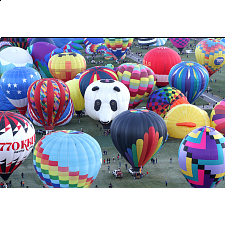 Balloons Galore: Colorful Hot Air Balloons - 1000 Pieces