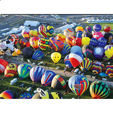 Balloons Galore: Hot Air Balloons on the Ground - 1000 Pieces