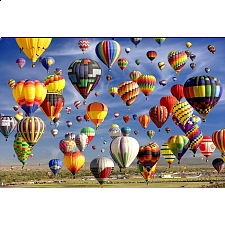 Balloons Galore: Hot Air Balloon Mass Ascension, Albuquerque - 1000 Pieces