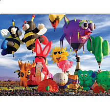 Balloons Galore: Funky Shapes Hot Air Balloons - 1000 Pieces