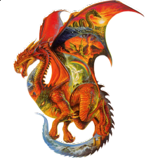 Dragon Dreams - Shaped Jigsaw Puzzle - Shaped