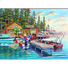 Rainy Lake - Large Piece Format - 101-499 Pieces