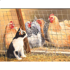 Visit with Hens - 500-999 Pieces