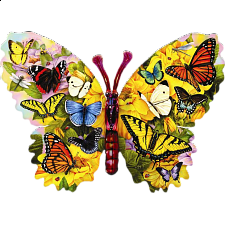 Wings of Color - Shaped Jigsaw Puzzle - Shaped