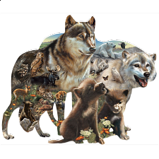 Wolf Pack - Shaped Jigsaw Puzzle - Shaped