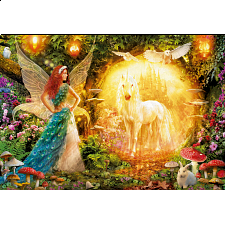 Peacock Feather Fairy - 1000 Pieces