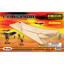 F-117 Nighthawk - 3D Wooden Puzzle - Jigsaws