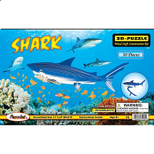 Shark - Illuminated 3D Wooden Puzzle - 3D - Wooden