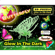 Butterfly - Glow In The Dark - 3D Puzzle - 1-100 Pieces