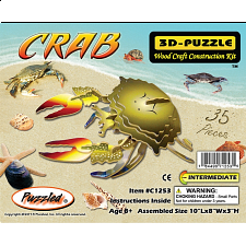Crab - Illuminated 3D Wooden Puzzle - 1-100 Pieces
