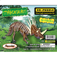 Styracosaurus - Illuminated 3D Wooden Puzzle - 1-100 Pieces