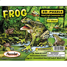 Frog - Illuminated 3D Wooden Puzzle - 1-100 Pieces
