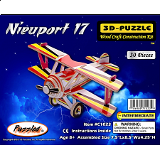 Nieuport 17 - Illuminated 3D Wooden Puzzle - Wood Puzzles