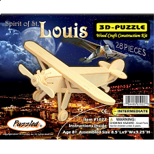 Spirit of St. Louis - 3D Wooden Puzzle - Wood Puzzles