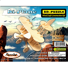Bi-Plane - 3D Wooden Puzzle - 1-100 Pieces