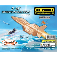 F-16 Fighting Falcon - 3D Wooden Puzzle - Wood Puzzles