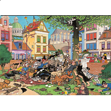 Jan van Haasteren Comic Puzzle - Get That Cat! - 500-999 Pieces